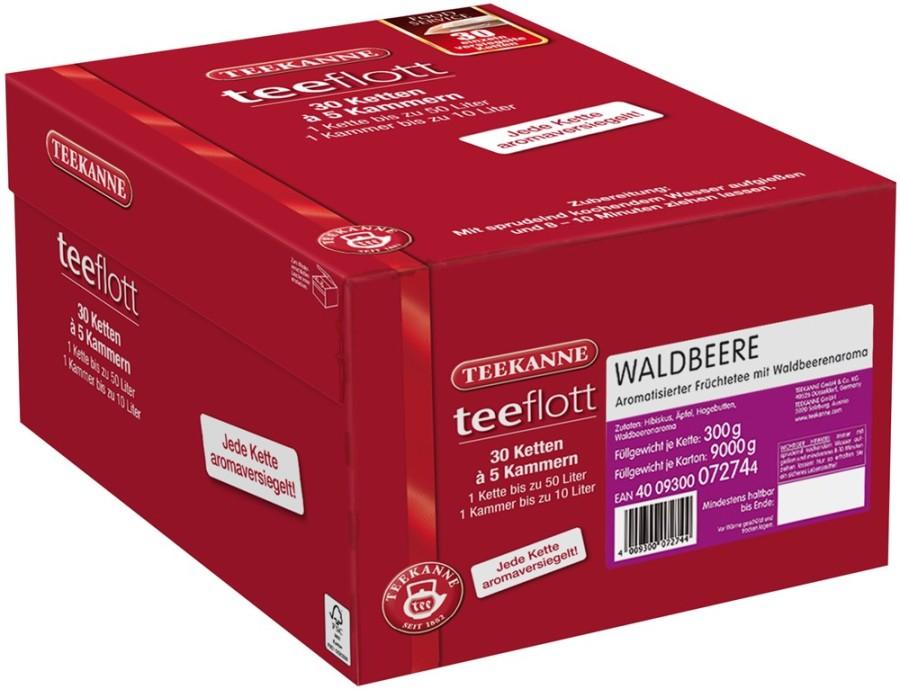 Teekanne teeflott  Waldbeere 30 Filterketten à 5 Kammern