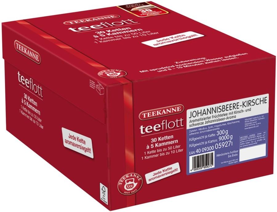 Teekanne teeflott  Johannisbeere-Kirsche 30 Filterketten à 5 Kammern