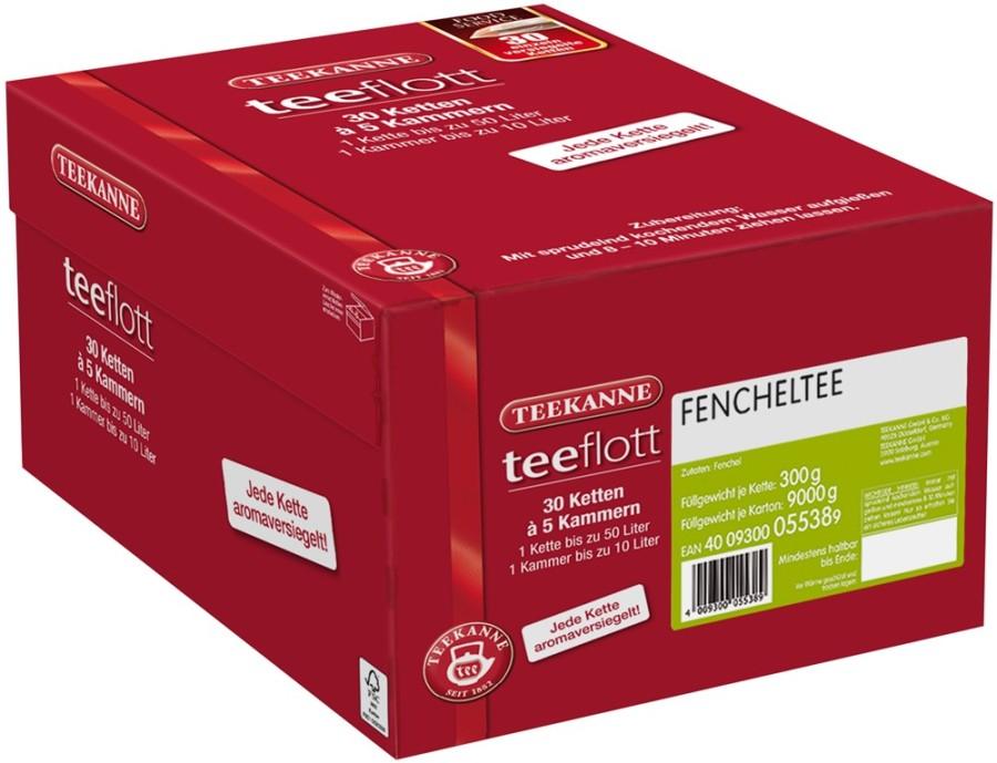Teekanne teeflott Fencheltee 30 Filterketten à 5 Kammern