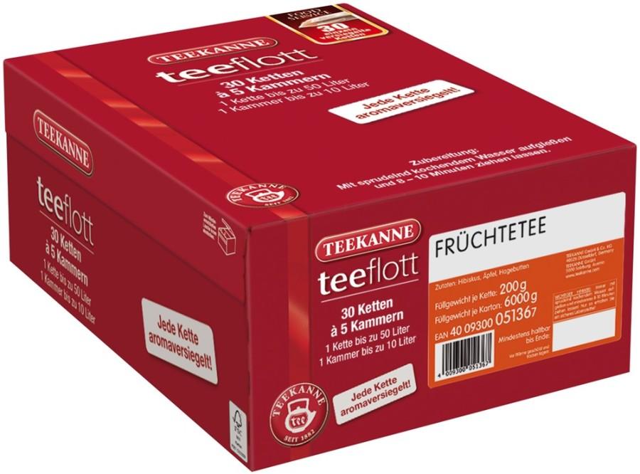 Teekanne teeflott  Früchtetee 30 Filterketten à 5 Kammern