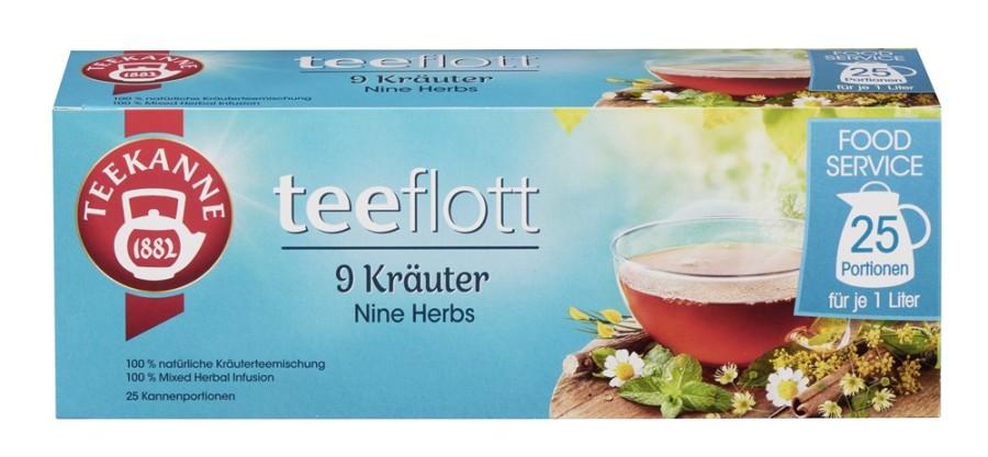 Teekanne teeflott 9 Kräuter 25 x 5g Kannenportionen