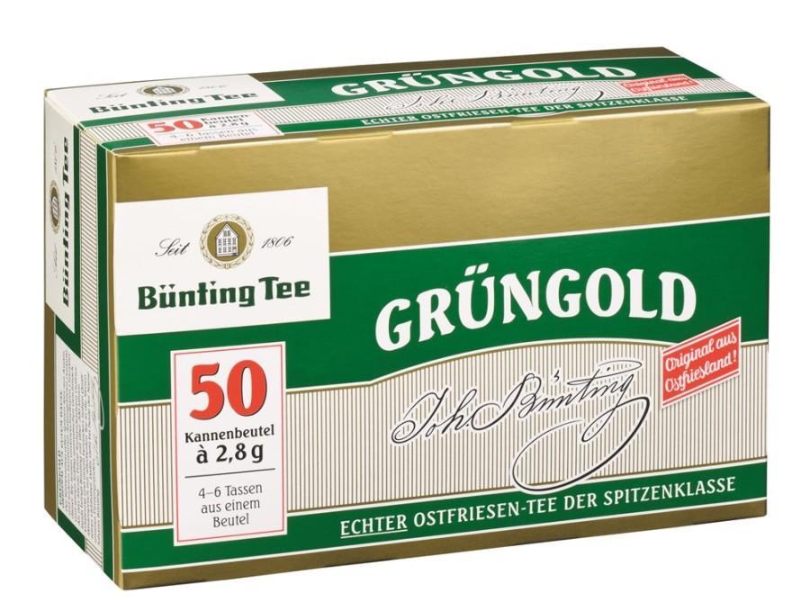 Bünting Tee Grüngold Ostfriesen-Tee 50 x 2,8g Kannenportionen