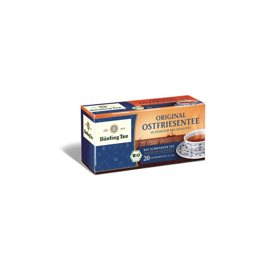 Bünting Tee Original Ostfriesentee 20 x 1,5g Teebeutel, Bio