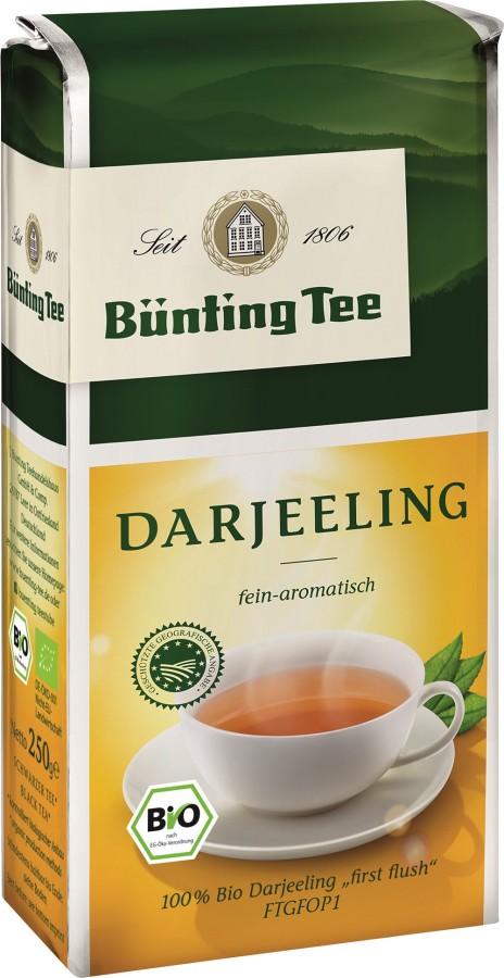 Bünting Tee Darjeeling Schwarzer Tee 250g lose, Bio  first flush