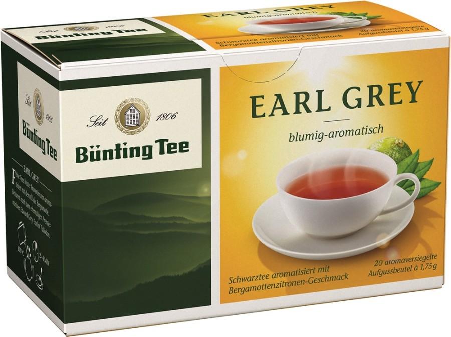 Bünting Tee Earl Grey Schwarzer Tee 20 x 1,75g Teebeutel