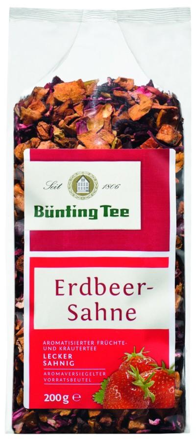 Bünting Tee Erdbeer-Sahne Früchtetee 200g lose