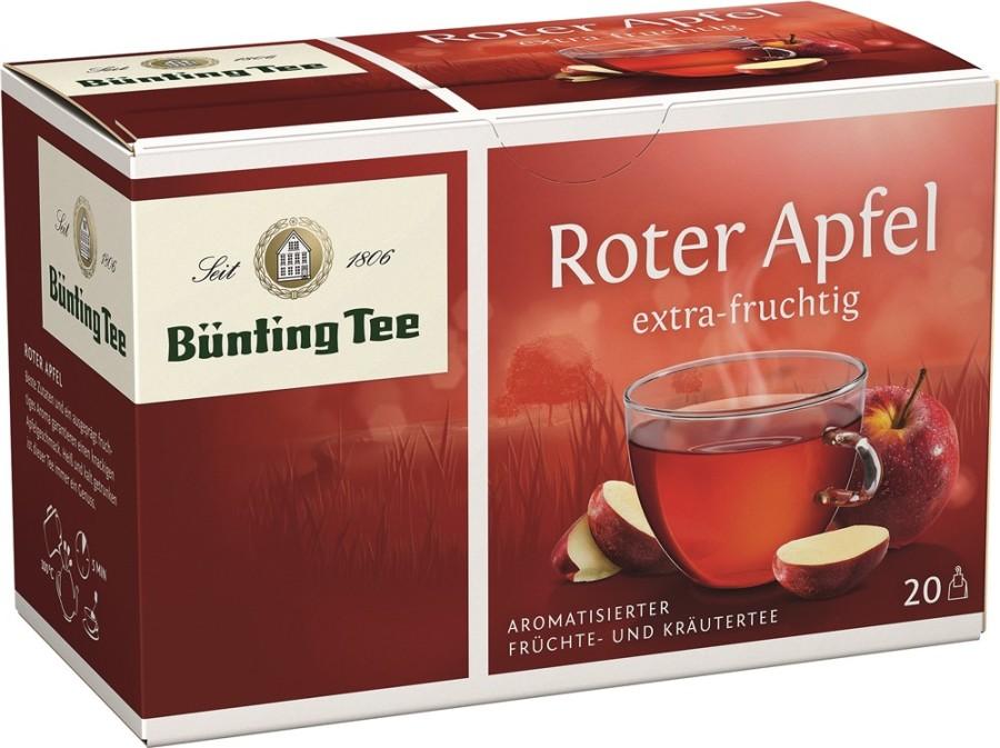 Bünting Tee Roter Apfel Früchtetee 20 x 2,5g Teebeutel
