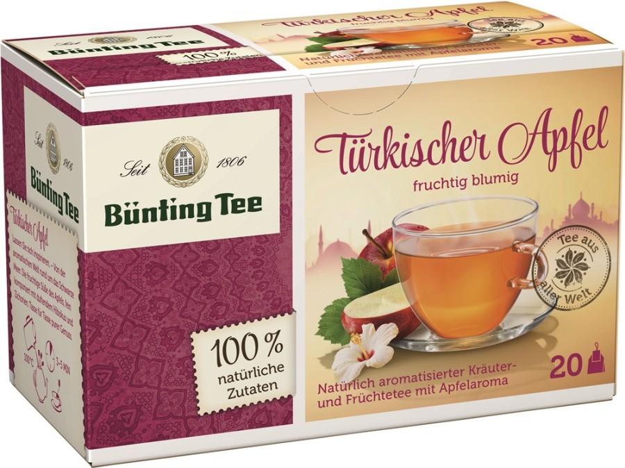 Bünting Tee Türkischer Apfel 20 x 2,75g Teebeutel