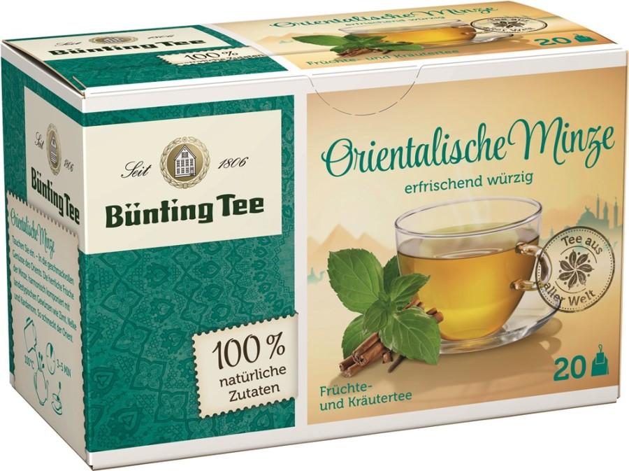 Bünting Tee Orientalische Minze 20 x 1,8g Teebeutel