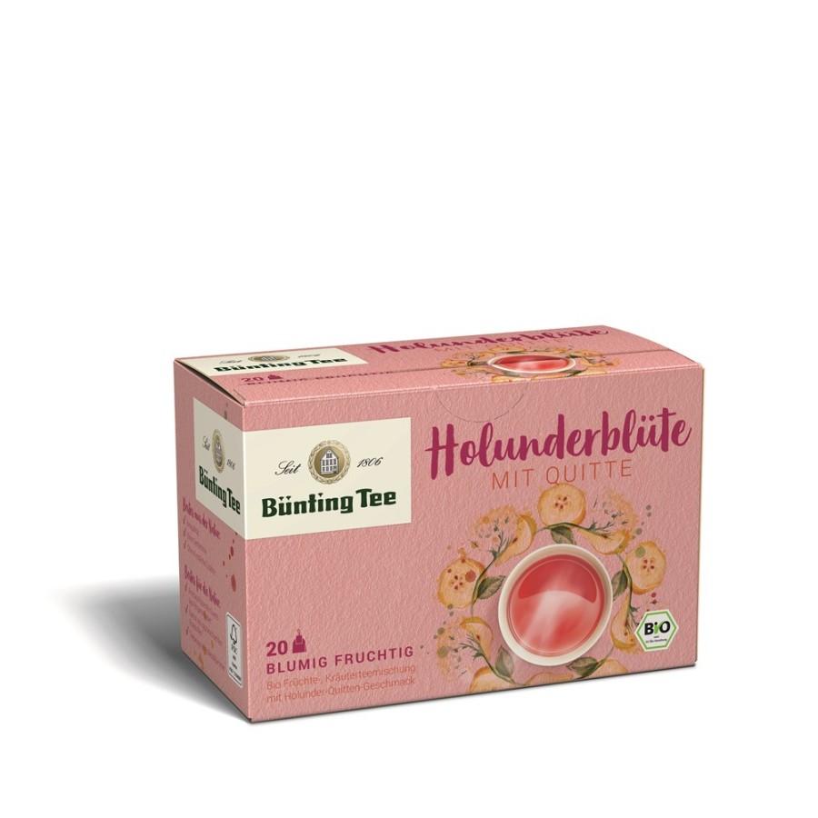 Bünting Tee Holunderblüte Quitte 20 x 2,5g Teebeutel, Bio