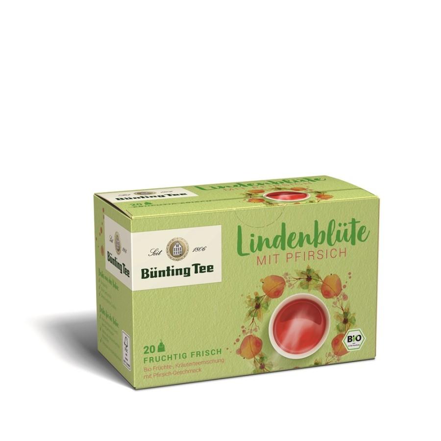Bünting Tee Lindenblüte Pfirsich 20 x 2,5g Teebeutel, Bio