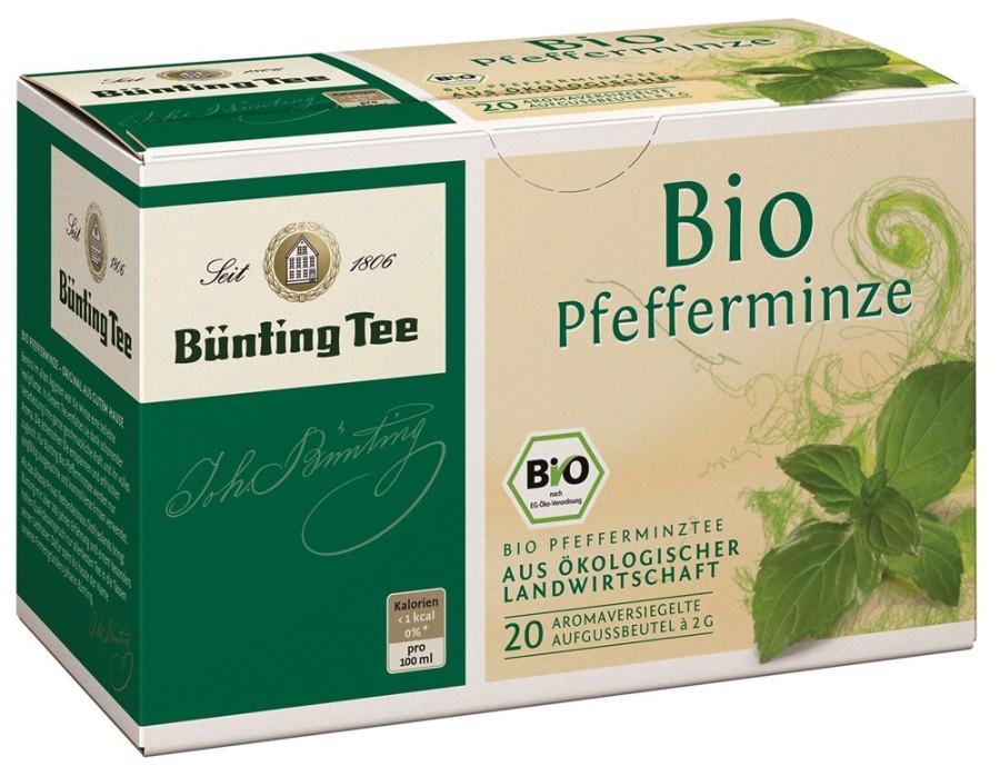 Bünting Tee Pfefferminze 20 x 2g Teebeutel, Bio