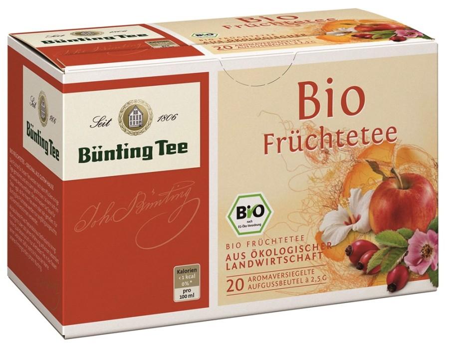 Bünting Tee Früchte 20 x 2,5g Teebeutel, Bio