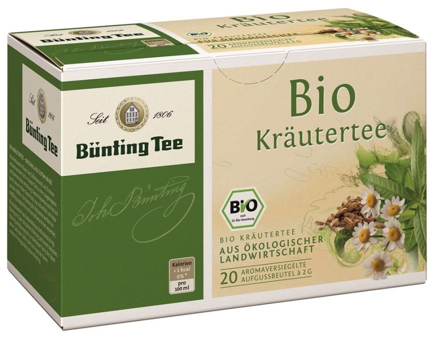 Bünting Tee Kräutertee 20 x 2g Teebeutel, Bio