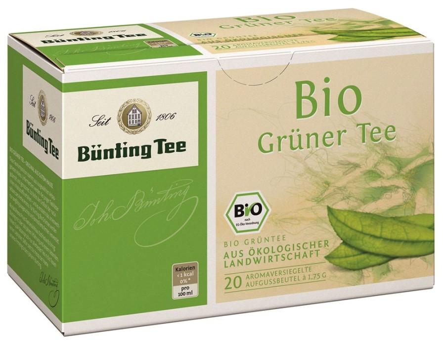 Bünting Tee Grüner Tee 20 x 1,75g Teebeutel, Bio