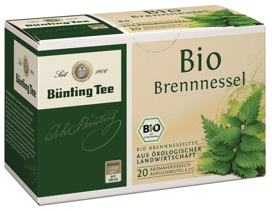 Bünting Tee Brennessel-Tee 20 x 2g Teebeutel, Bio
