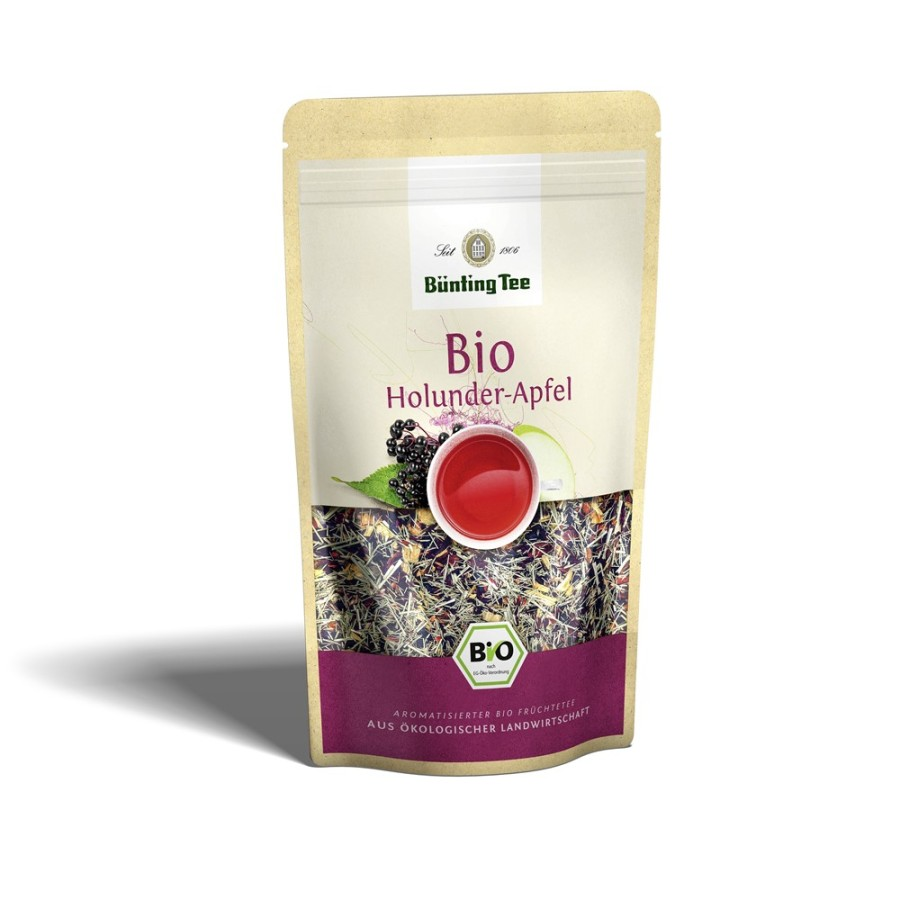 Bünting Tee Holunder-Apfel  lose 90g, Bio