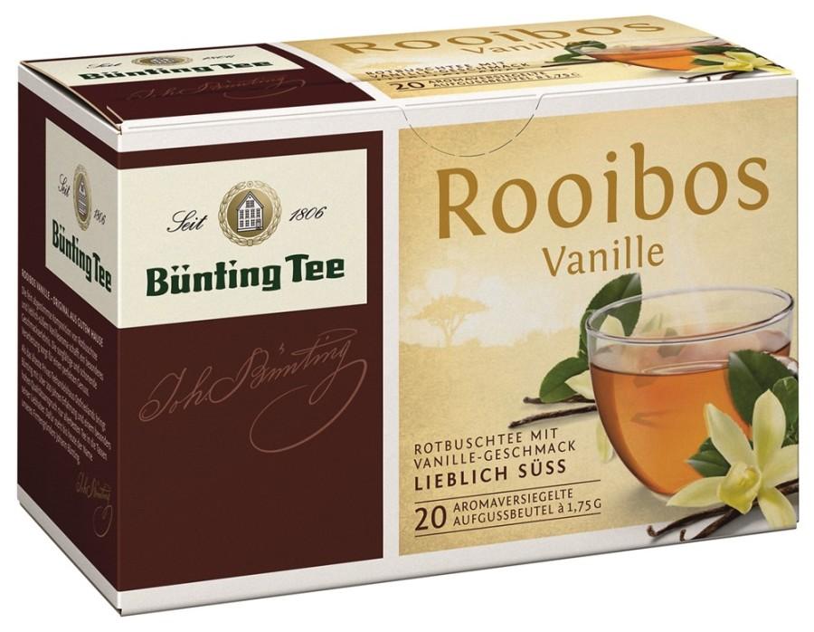 Bünting Tee Rooibos Vanille 20 x 1,75g Teebeutel