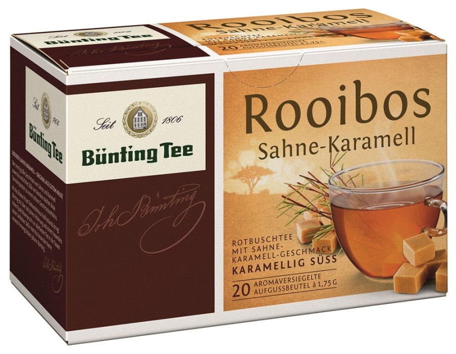 Bünting Tee Rooibos Sahne-Karamell  20 x 1,75g Teebeutel