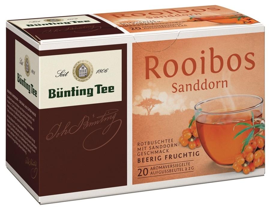 Bünting Tee Rooibos Sanddorn 20 x 2g Teebeutel