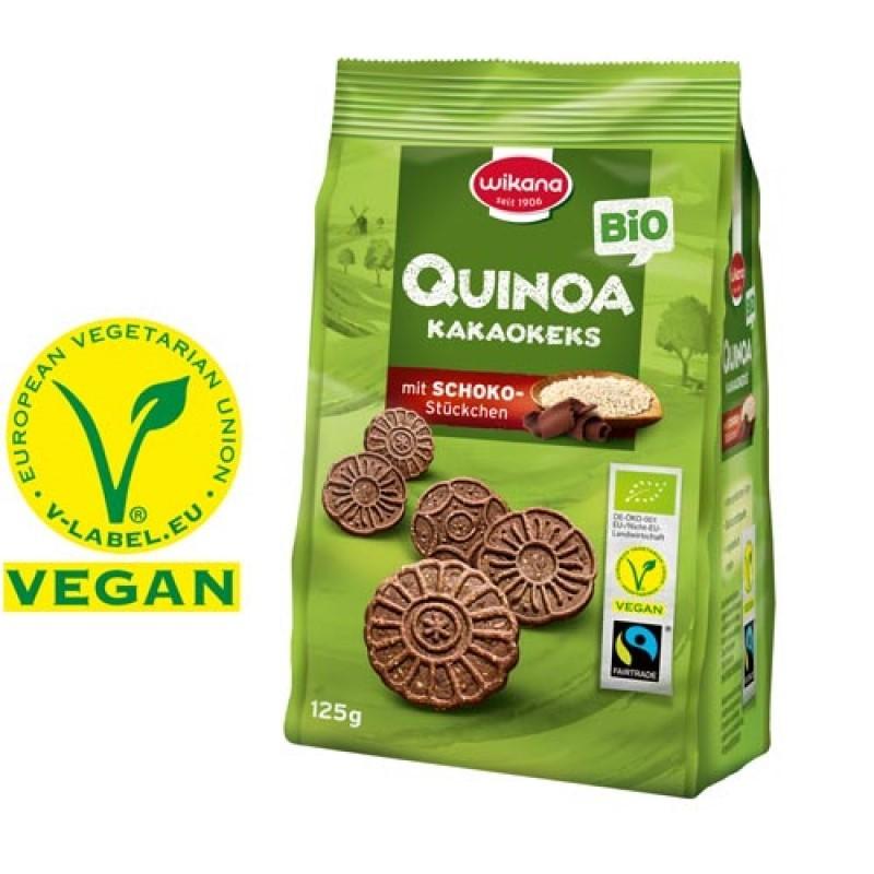 Wikana Quinoa Kakaokeks  125g, Bio Fairtrade