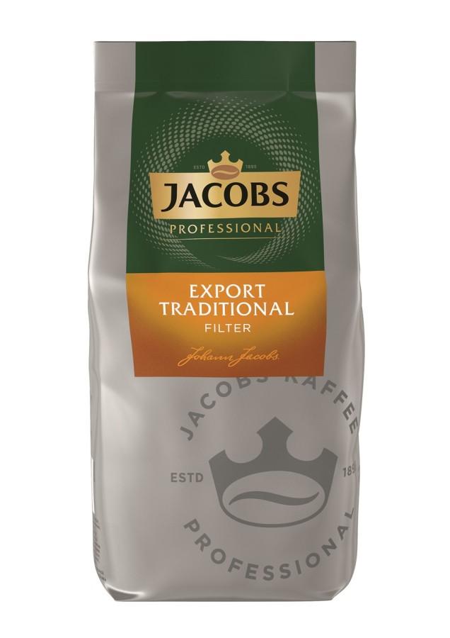 Jacobs Professional Export Traditional Filterkaffee 1kg Gemahlen