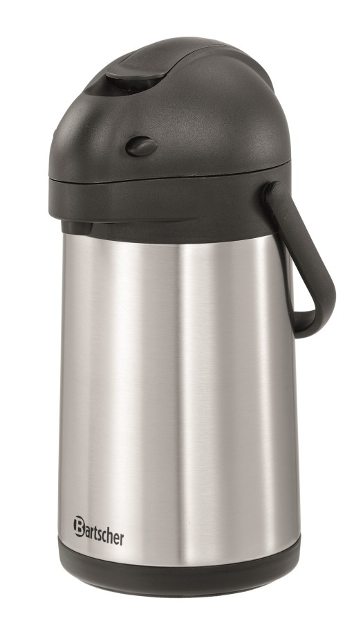 Bartscher Isolierpumpkanne 1,9 Liter silber-schwarz