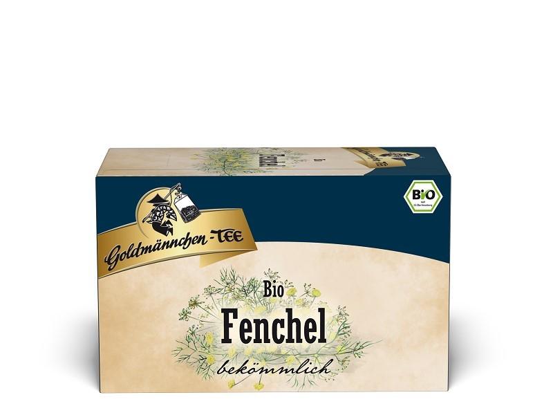Goldmännchen Tee Fenchel Kräutertee 20 x 1,5g Teebeutel, Bio