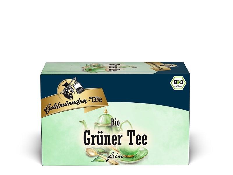 Goldmännchen Tee Grüner Tee 20 x 1,5g Teebeutel, Bio