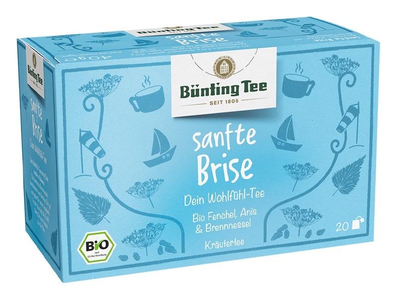 Bünting Tee Sanfte Brise Kräutertee 20 x 2g Teebeutel, Bio