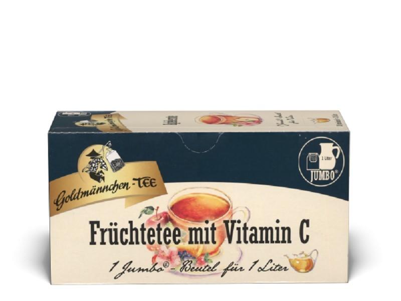 Goldmännchen Tee Jumbo Früchtetee mit Vitamin C 20 x 7g Kannenportionen