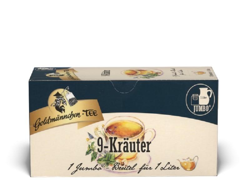 Goldmännchen Tee Jumbo 9 Kräuter 20 x 4g Kannenportionen