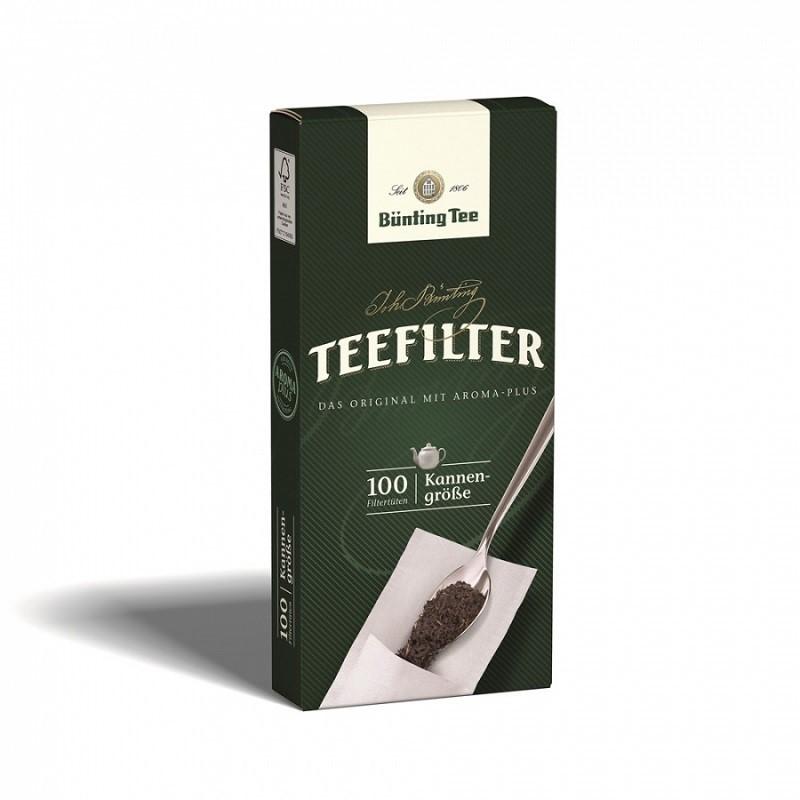 Bünting Tee Teefilter mit Anfaßlasche 100 Stück, Kannenfilter