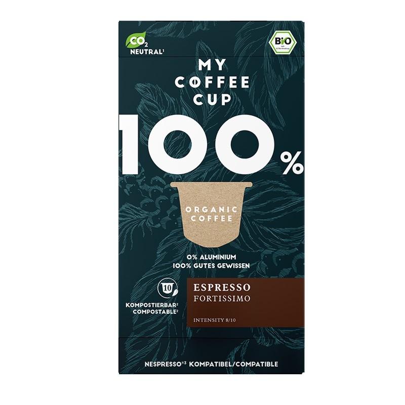 My-Cups Box Espresso Fortissimo 10 Kapseln, Bio, 0% Alu