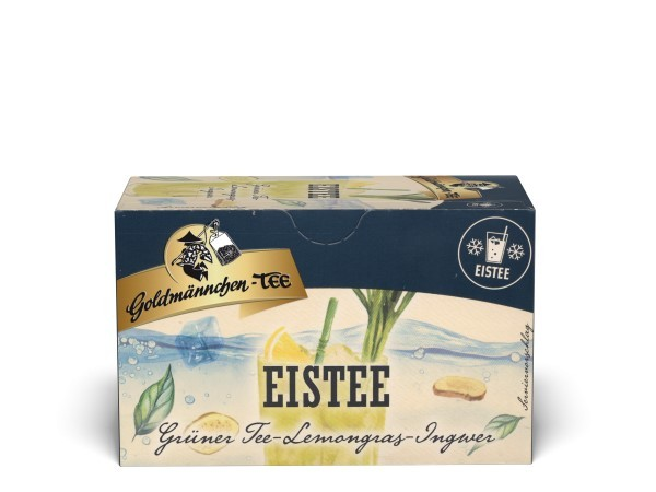 Goldmännchen Tee Eistee Grüner Tee Lemongras-Ingwer 20 x 1,5g Teebeutel