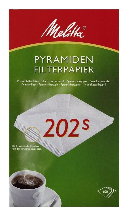 Melitta Pyramiden-Filterpapier 202 S weiß 100 Stück Filtertüten