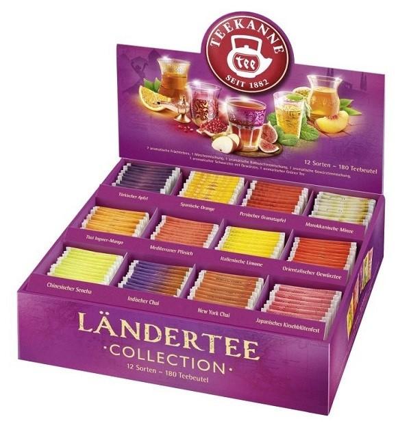 Teekanne Ländertee Collection Box 12 Sorten x 15 Teebeutel