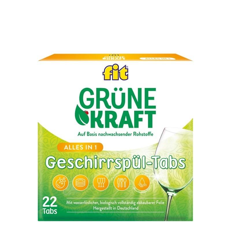 fit Grüne Kraft Alles-in-1 Geschirrspül-Tabs 22 Tabs
