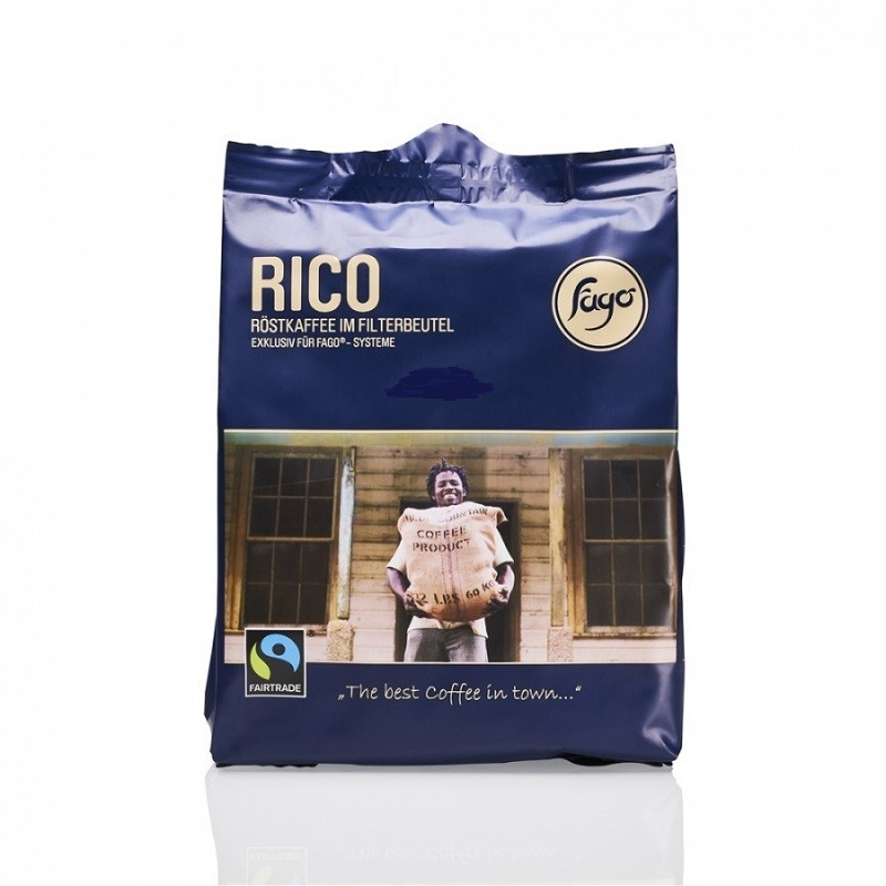Fago Rico volle Kanne Röstkaffee 48 x 65g Filterbeutel, Fairtrade