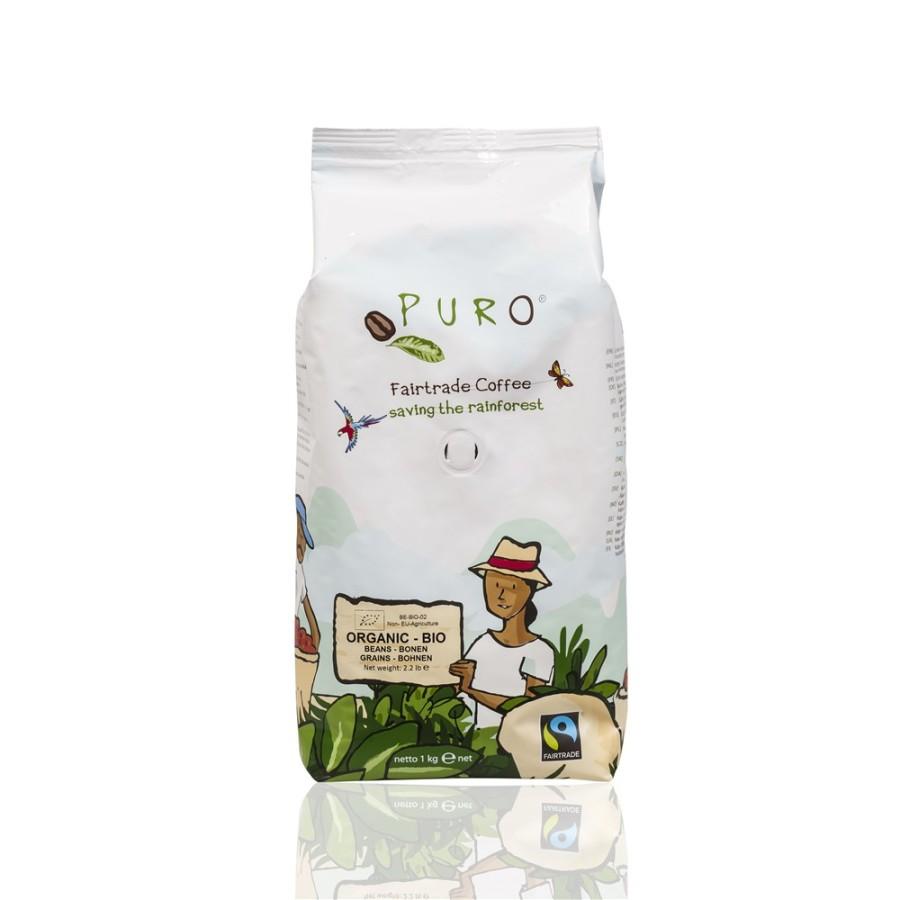 Puro Bio Organic Café Crème  9 x 1kg Ganze Bohne, Bio Fairtrade