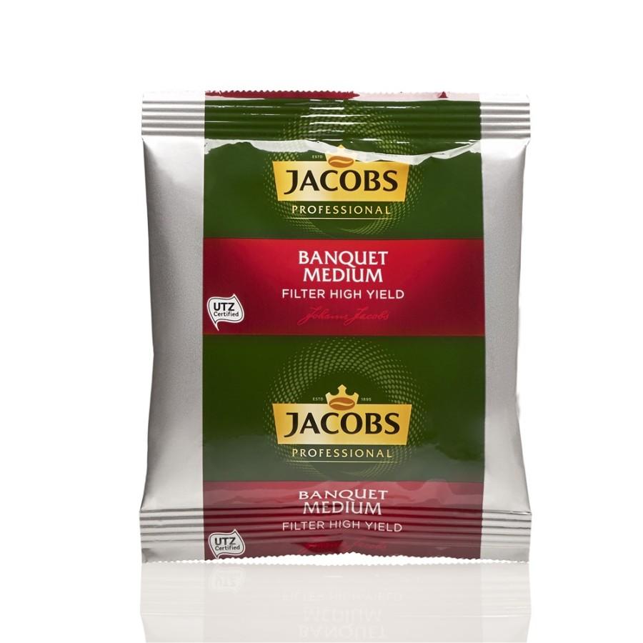 Jacobs Banquet Medium Filterkaffee  80 x 60g  Gemahlen, UTZ zertifiziert, Filterbeutel