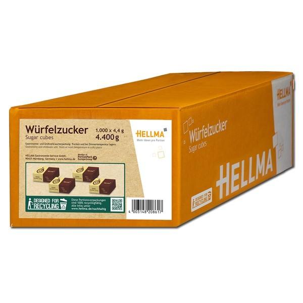 Hellma Würfelzucker 2000 x 4,4g Portionspackung