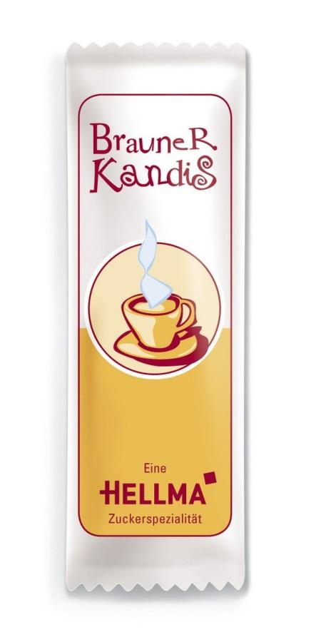 Hellma Brauner Kandis 1000 x 6g  Portionspackung