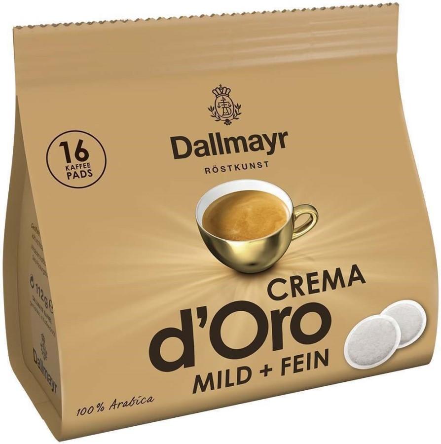 Dallmayr Crema dOro mild+fein Café Crema  5 x 16 Pads