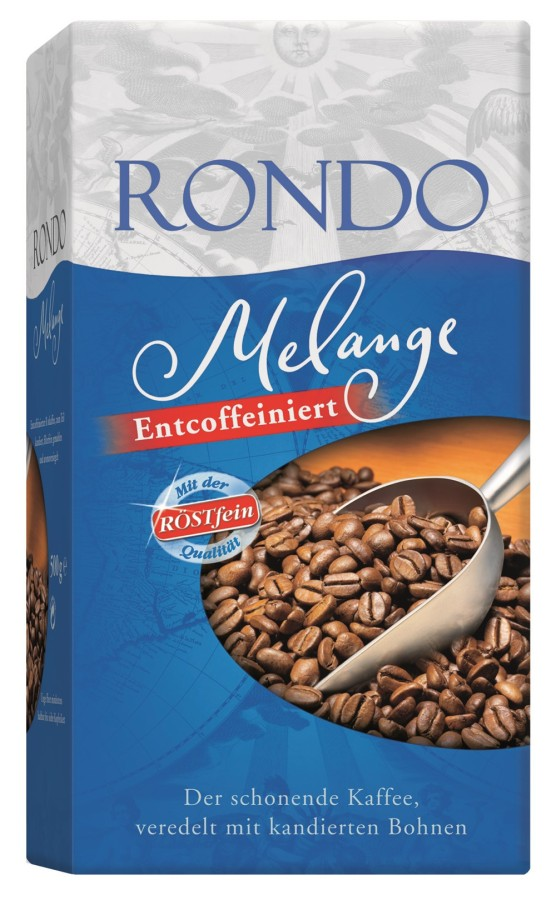 Röstfein Rondo Melange entcoffeiniert Filterkaffee 500g Gemahlen