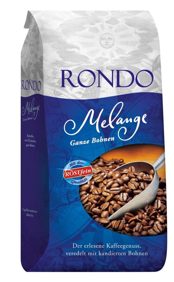 Röstfein Rondo Melange Röstkaffee 1kg  Ganze Bohne