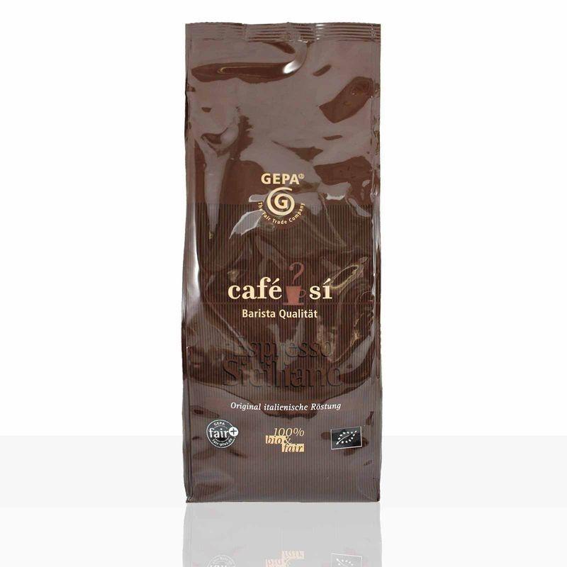 Gepa Cafe Si Espresso Siciliano 4 x 1kg Ganze Bohne, Bio Fairtrade