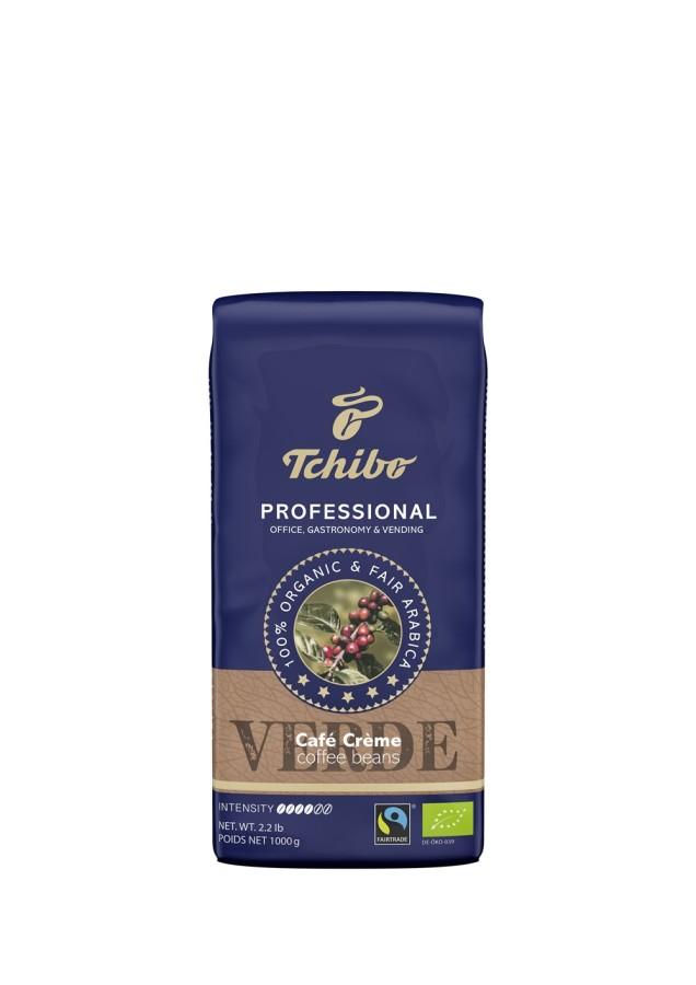 Tchibo Professional Verde Café Crème 6 x 1kg Ganze Bohne, Bio Fairtrade