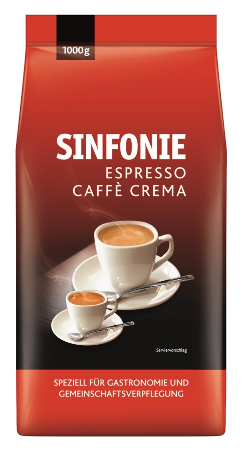 Jacobs Sinfonie Espresso Caffè Crema  8 x 1kg Ganze Bohne, Hybridbohne