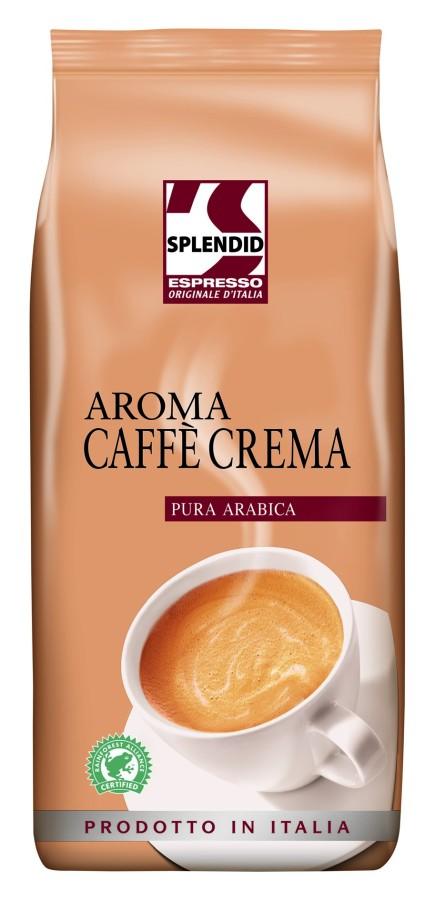 Splendid Aroma Caffè Crema 8 x 1kg Ganze Bohne, Rainforest Alliance